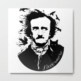 Edgar Allen Poe Metal Print