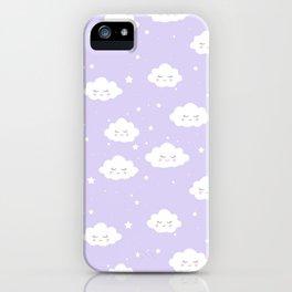 Kawaii cloud pattern iPhone Case