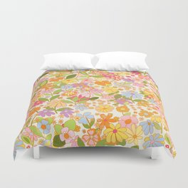 Nostalgia in the garden Duvet Cover