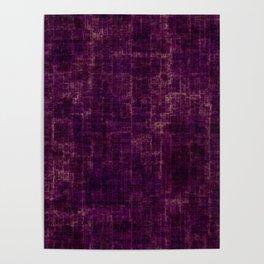 Dirty trendy purple Poster