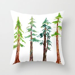 Tall Trees Please Throw Pillow