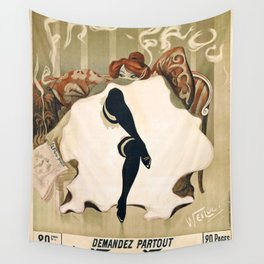 Vintage French poster - Weiluc - Le Frou-Frou Wall Tapestry