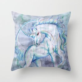 The Raining Queen Throw Pillow