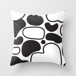 Black & White Blobs Throw Pillow