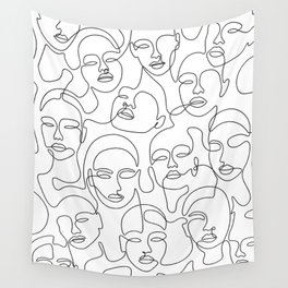 Crowded Girls Wall Tapestry