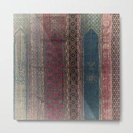 Amira Moroccan Brocade Metal Print