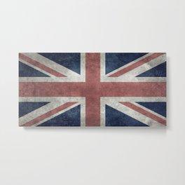 UK Flag, Retro Desaturated 1:2 scale Metal Print