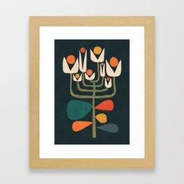 Retro botany Gerahmter Kunstdruck