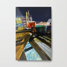 Beneath The Wharf Metal Print