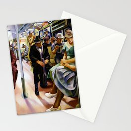 American Masterpiece 'Subway' by Lily Furedi Stationery Cards