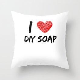 I Love DIY Soap Throw Pillow