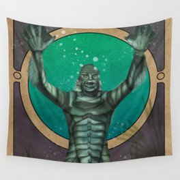 Creature From the Black Lagoon Nouveau Wall Tapestry