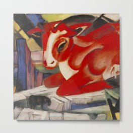 "Franz Marc ""The World Cow"" Metal Print"