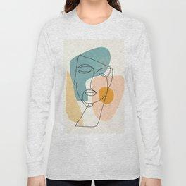 Abstract Face 25 Long Sleeve T-shirt