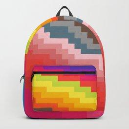 Pixel art rainbow Backpack