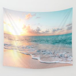 Pink Sea Wall Tapestry