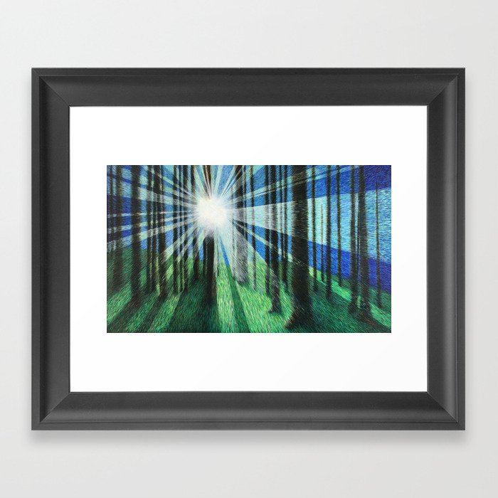 Movement in Color and Light Framed Art Print