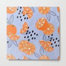 Orange pattern 04 Metal Print
