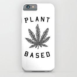 plant based marijuana leaf iPhone Case
