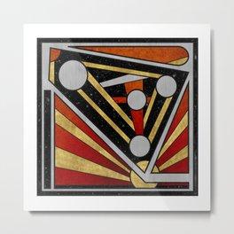 Mécanique Céleste - Abstract Geometric Design Metal Print