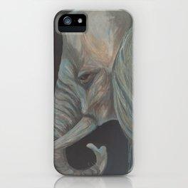 """Elephant on My Chest"" Elephant acrylic art print iPhone Case"
