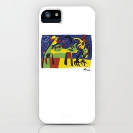 Joan Miro, Dog Barking at the Moon, 1952 Artwork, Prints, Posters, Tshirts, Men, Women, Kids iPhone Case