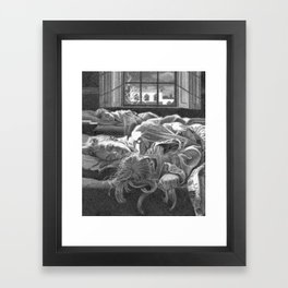 All snug in their beds... Framed Art Print