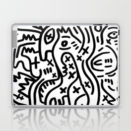 Graffiti Street Art Black and White Laptop & iPad Skin