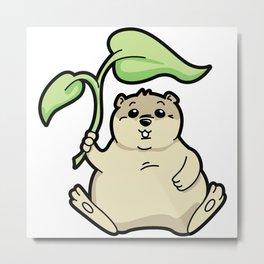 Little Chubby Happy Gopher Shading Itself Metal Print
