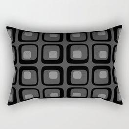 60s Grayscale Mod Rectangular Pillow