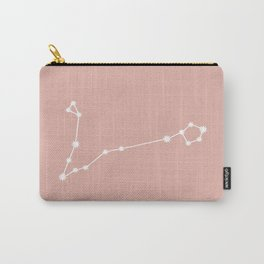 Pisces Zodiac Constellation - Pink Rose Carry-All Pouch