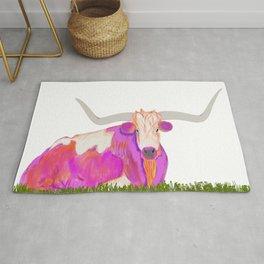 Pink Longhorn Rug
