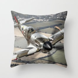 Vickers Armstrong Spitfire FR XIV Throw Pillow