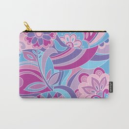 Retro pattern in pink purple Carry-All Pouch