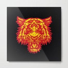 Tiger Chamuco Studio Metal Print