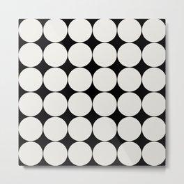 Circular Minimalism - Black & White Metal Print
