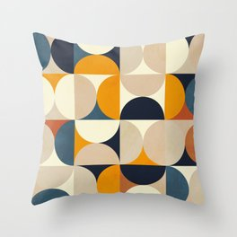 mid century abstract shapes fall winter 1 Throw Pillow