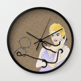 Loquacious Lillian Wall Clock