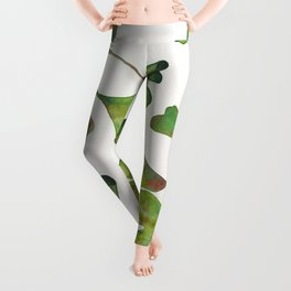 Ginkgo Biloba – Green Leggings