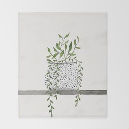 Vase 2 Throw Blanket