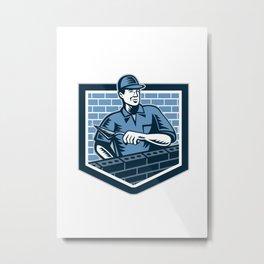 Brick Layer Mason Masonry Worker Retro Metal Print