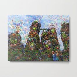 DeepDream Pictures, Rocks Metal Print