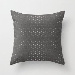 Pantone Pewter and white Polka Dots Circle Pattern Throw Pillow