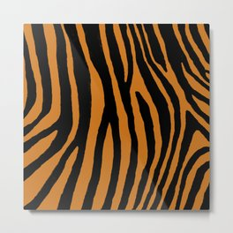 Tiger Stripes Pattern Metal Print