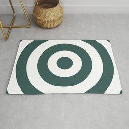 Target (Dark Green & White Pattern) Rug