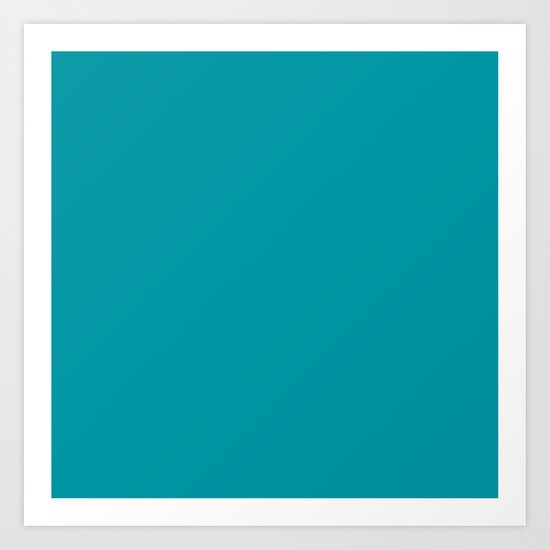 Turquoise Blue Teal | Solid Colour by koovox