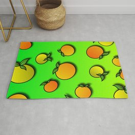 Abstract Colorful Background with Mandarins - Poster - Paper Rug
