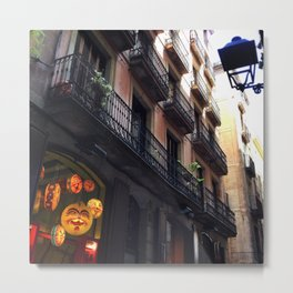 Streets of Barca Metal Print