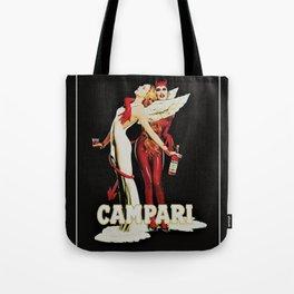 Vintage Campari Italian Bitters Aperitif Angel and Devil Advertisement Poster Tote Bag