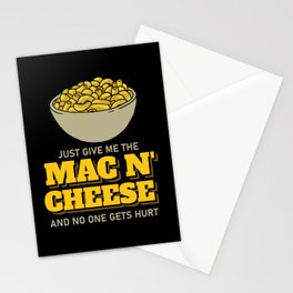 Mac N' Cheese Pasta Macaroni Lover Gift Stationery Cards